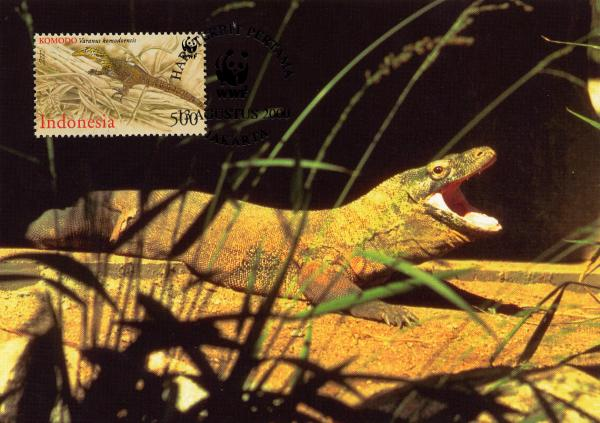 Indonesia 2000 WWF Komodo Dragon x