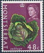 Montserrat 1965 Fruit & Vegetables and Portrait of Queen Elizabeth II m