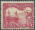 New Caledonia 1906 Men Poling (Postage due Stamps) e.jpg