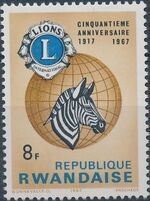 Rwanda 1967 50th Anniversary of Lions International d