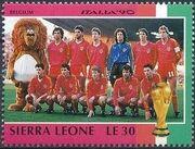 Sierra Leone 1990 Football World Cup in Italy n