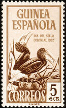 Spanish Guinea 1952 Colonial Stamp Day (Birds) a