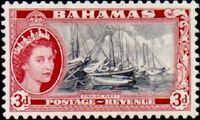 Bahamas 1954 Queen Elisabeth II and Landscapes Issue e