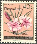 Burundi 1962 Flower Issue of Ruanda-Urundi Overprinted b
