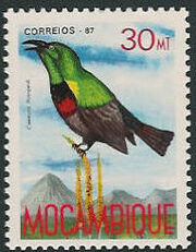 Mozambique 1987 Birds of Moçambique (Third Issue) f