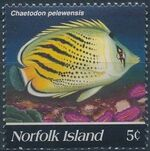 Norfolk Island 1995 Butterflyfishes a