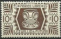 Wallis and Futuna 1944 Ivi Poo Bone Carving in Tiki Design m