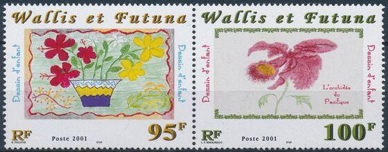 Wallis and Futuna 2001 Children's Drawings of Flowers b