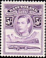 Basutoland 1938 George VI, Crocodile and River Scene j