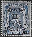 Belgium 1938 Coat of Arms - Precancel (2nd Group) f.jpg