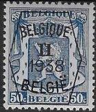 Belgium 1938 Coat of Arms - Precancel (2nd Group) f