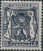 Belgium 1939 Coat of Arms - Precancel (1st Group) a