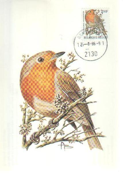 Belgium 1986 Birds (A) MCa