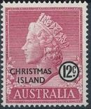 Christmas Island 1958 Queen Elizabeth II g