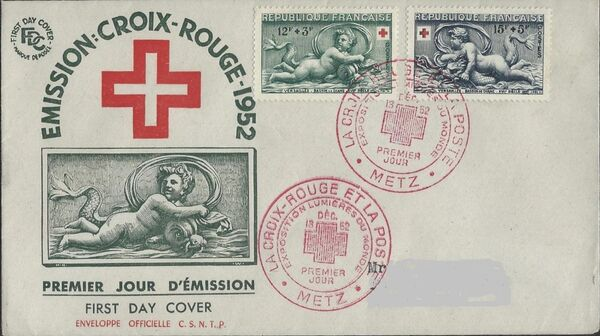 France 1952 Surtax for the Red Cross FDCa