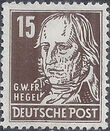 Germany DDR 1952 Famous People e