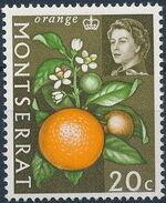 Montserrat 1965 Fruit & Vegetables and Portrait of Queen Elizabeth II j