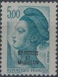 St Pierre et Miquelon 1986 Liberty from France Overprinted ST-PIERRE ET MIQUELON n