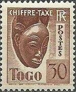 Togo 1941 Postage Due e