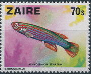 Zaire 1978 Fishes b