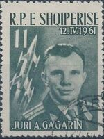Albania 1962 1st manned space flight - Yuri Gagarin c