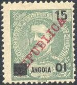 Angola 1912 D. Carlos I Overprinted and Surcharge bb