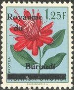 Burundi 1962 Flower Issue of Ruanda-Urundi Overprinted d