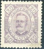 Cape Verde 1893-1895 Carlos I of Portugal e