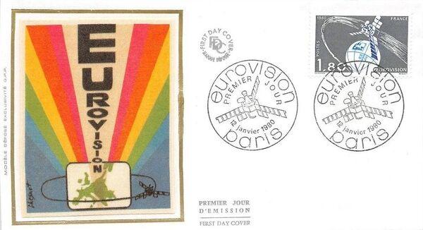 France 1980 Eurovision FDCa