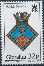 Gibraltar 1988 Royal Navy Crests 7th Group c