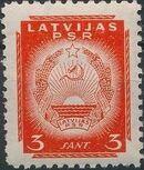 Latvia 1940 Arms of Soviet Latvia c