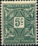 Mauritania 1914 Postage Due Stamps a