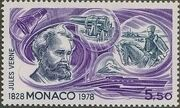 Monaco 1978 Birth Sesquicentennial of Jules Verne h