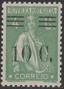 Portugal 1928 Ceres Surcharged d