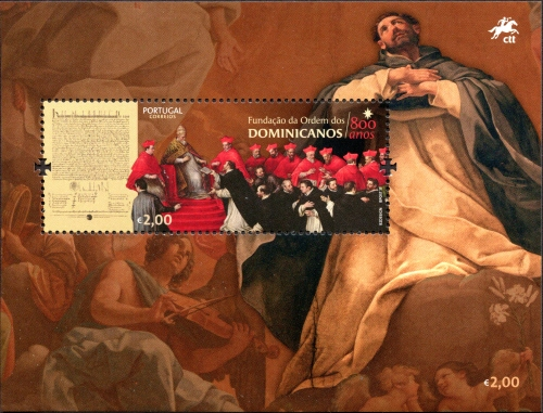 Portugal 2017 800 Years of the Foundation of Dominicans Order SSa