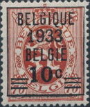 Belgium 1933 Coat of Arms, Precanceled and Surcharged b