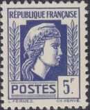 France 1944 Series d'Algiers (Cock of Alger and Marianne of Fernez) s