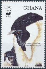 Ghana 1994 WWF - Diana Monkeys a