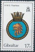 Gibraltar 1982 Royal Navy Crests 1st Group c
