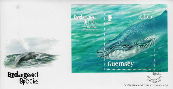 Guernsey 2011 Endangered Species - Blue Whale b
