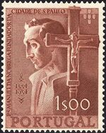 Portugal 1954 400th Anniversary of Founding of Sao Paulo, Brazil a