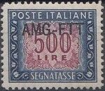 Trieste-Zone A 1952 Postage Due Stamps of Italy 1947-1954 Overprinted b