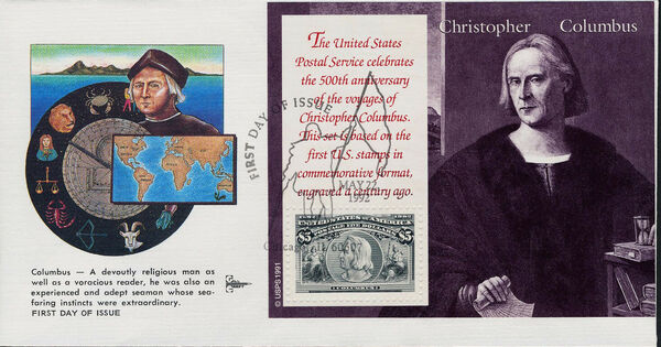 United States of America 1992 Voyages of Columbus FDCx