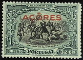 Azores 1926 1st Independence Issue Overprinted s