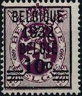 Belgium 1932 Heraldic Lion (Surcharged 1932) b