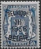 Belgium 1938 Coat of Arms - Precancel (3rd Group) f