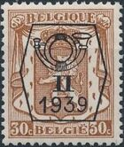 Belgium 1939 Coat of Arms - Precancel (2nd Group) d