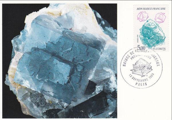 France 1986 Minerals MCd
