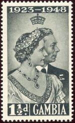 Gambia 1948 Silver Wedding of King George VI & Queen Elizabeth a