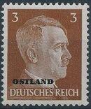German Occupation-Russia Ostland 1941 Stamps of German Reich Overprinted in Black b